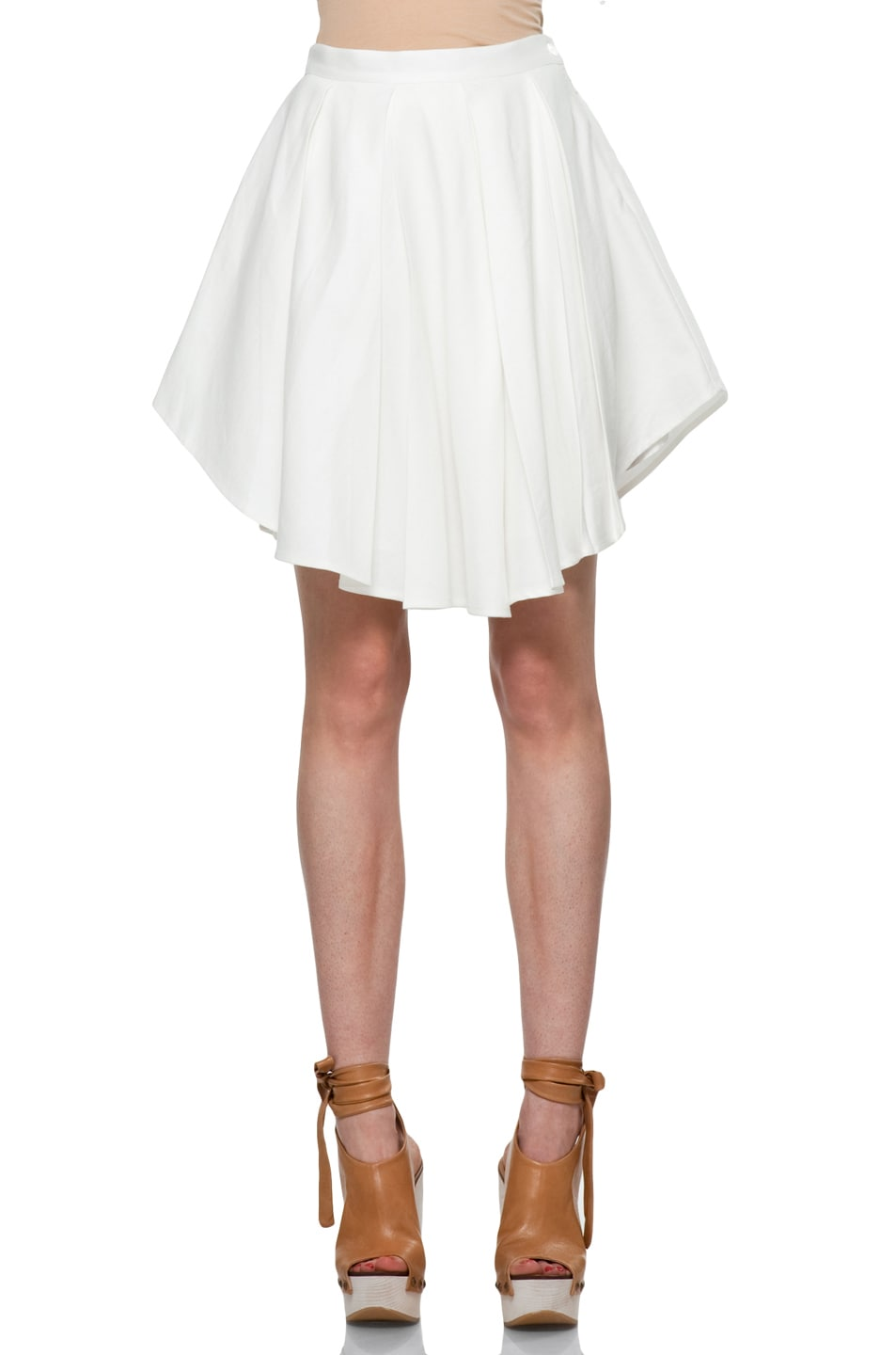 Image 1 of Boy. by Band of Outsiders Exploding Skirt in Ivory