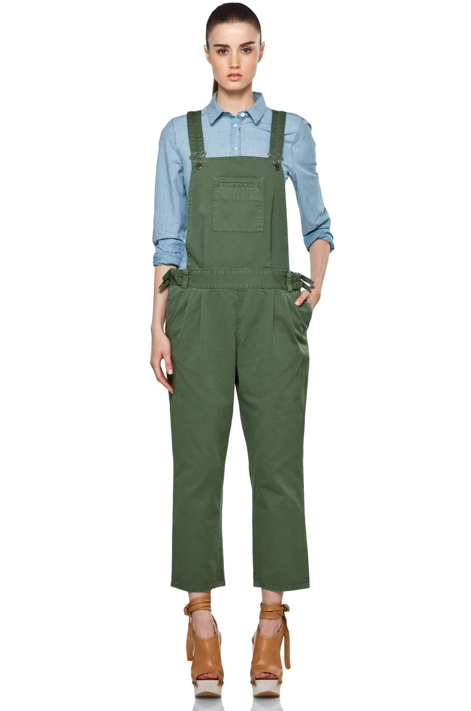 Image 1 of Boy. by Band of Outsiders Overalls in Verde