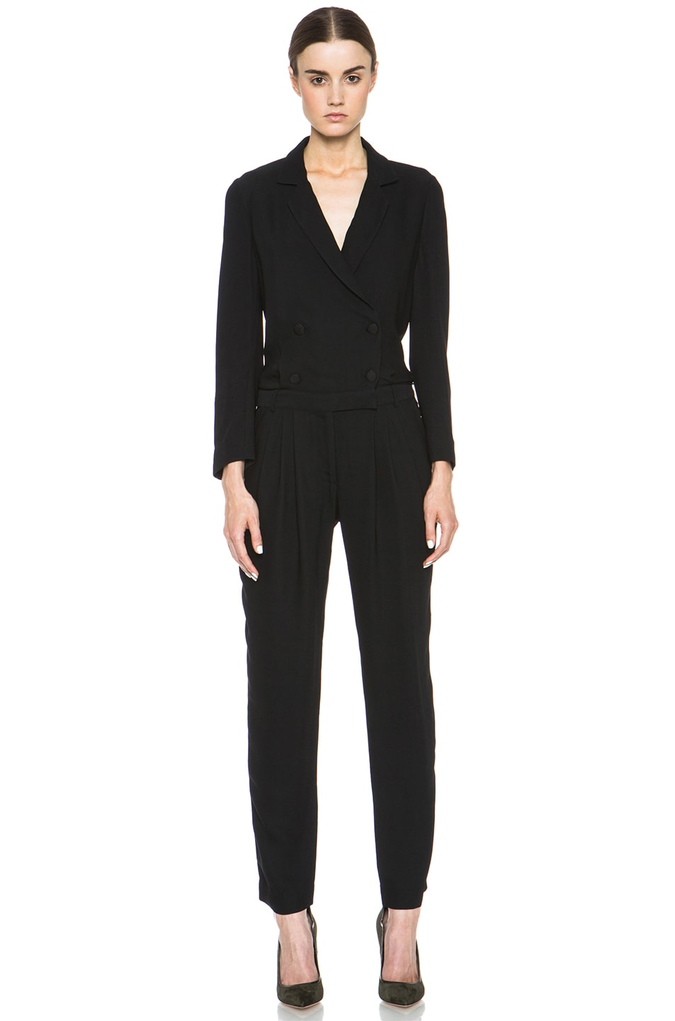Image 1 of Boy. by Band of Outsiders Cadi Viscose Jumpsuit in Black