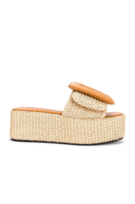 Image 1 of Boyy Puffy Sandal Platform in Caramel