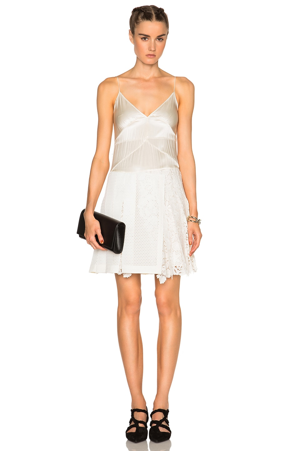 Image 1 of Burberry Prorsum Cami Dress in White