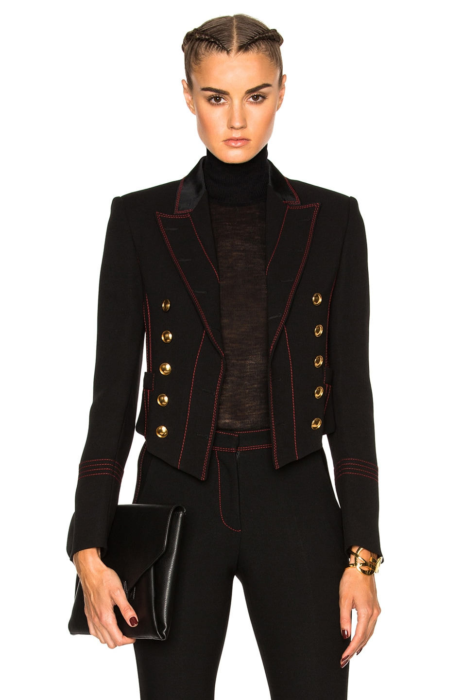 Image 1 of Burberry Prorsum Luggage Stitch Military Jacket in Black