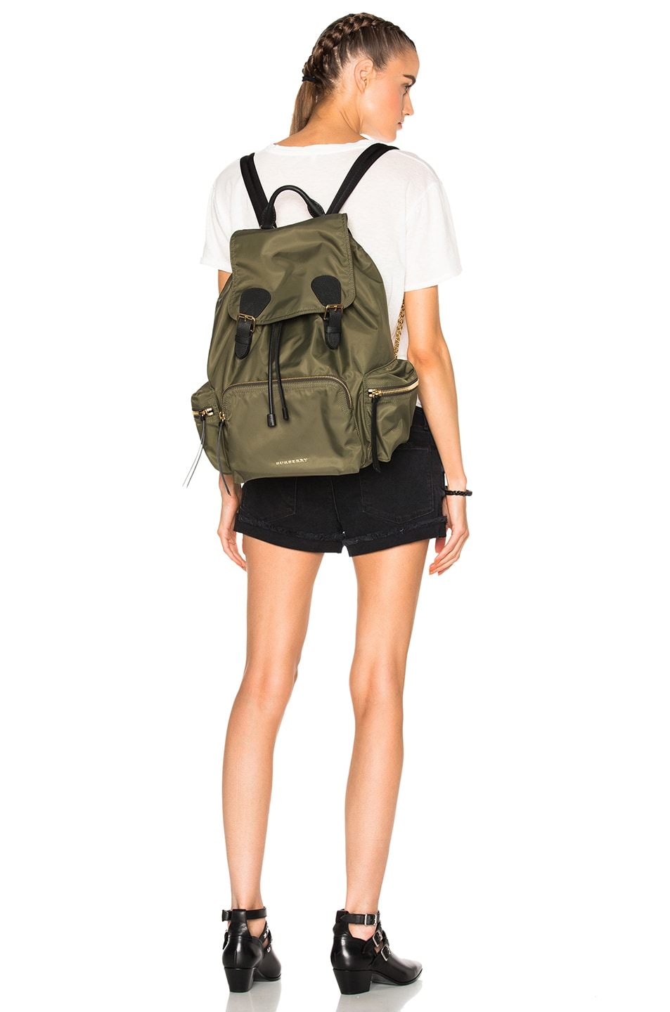 Image 2 of Burberry Prorsum Large Nylon Rucksack in Canvas Green 334b3f8039ed2