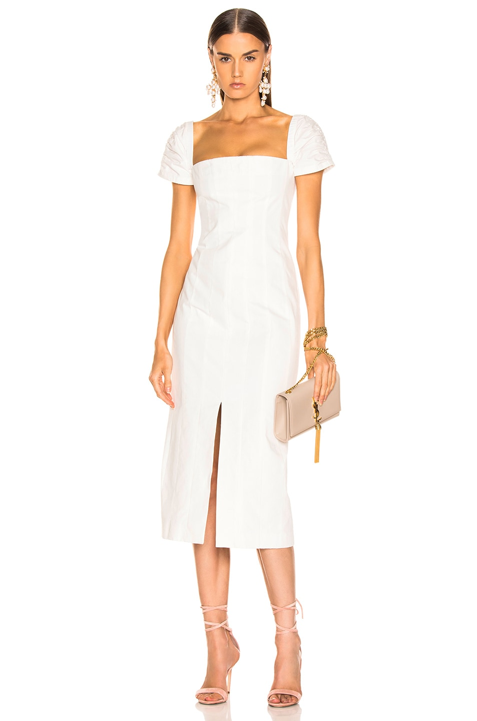 Image 1 of Brock Collection Square Neck Dress in Natural