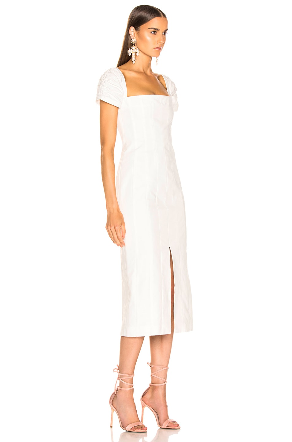 Image 2 of Brock Collection Square Neck Dress in Natural