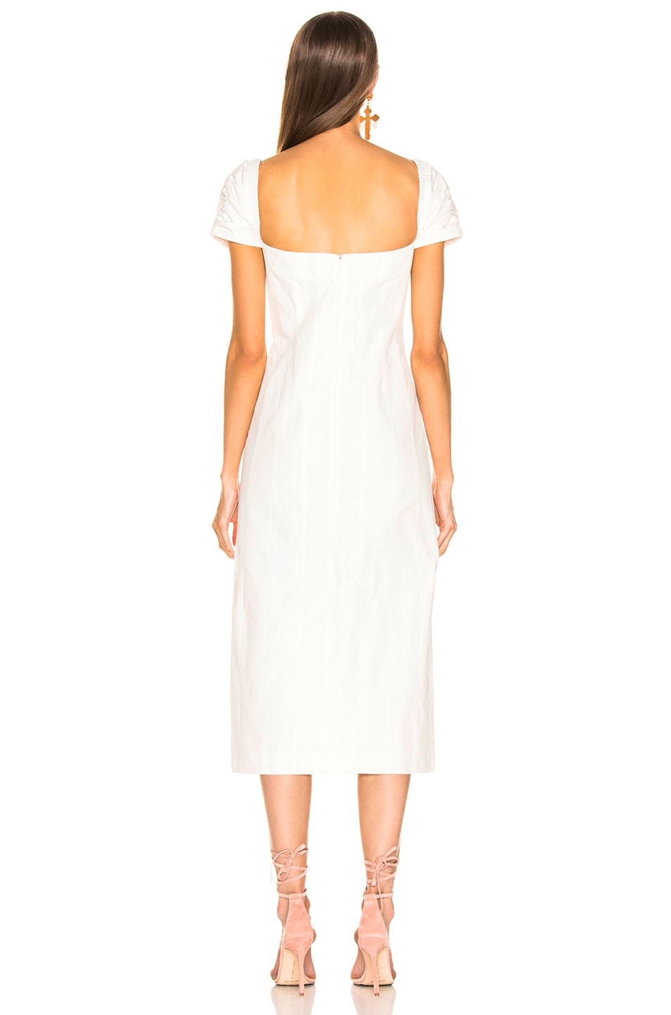 Image 3 of Brock Collection Square Neck Dress in Natural