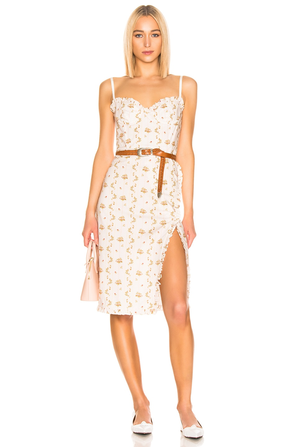 Image 1 of Brock Collection Floral Dress in Open White