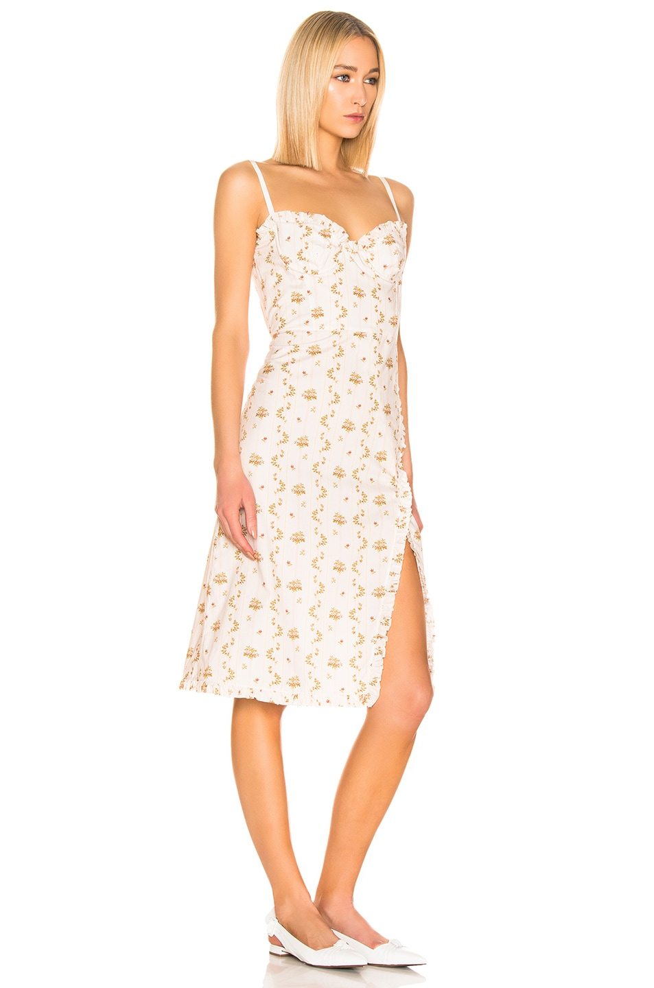 Image 2 of Brock Collection Floral Dress in Open White
