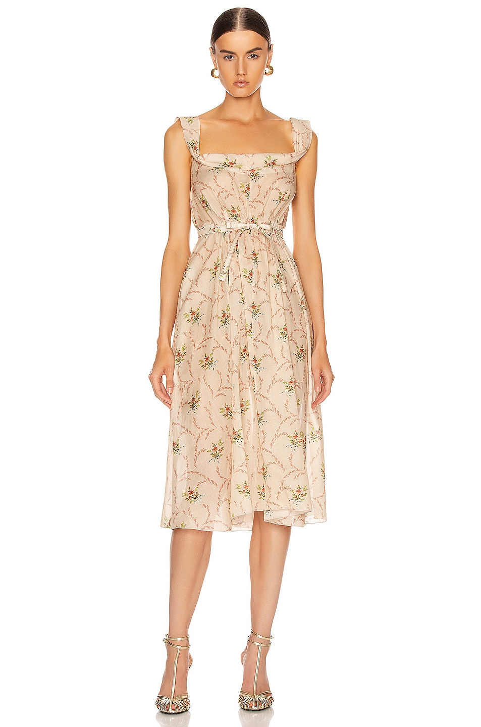 Image 1 of Brock Collection Patti Woven Dress in Dark Beige