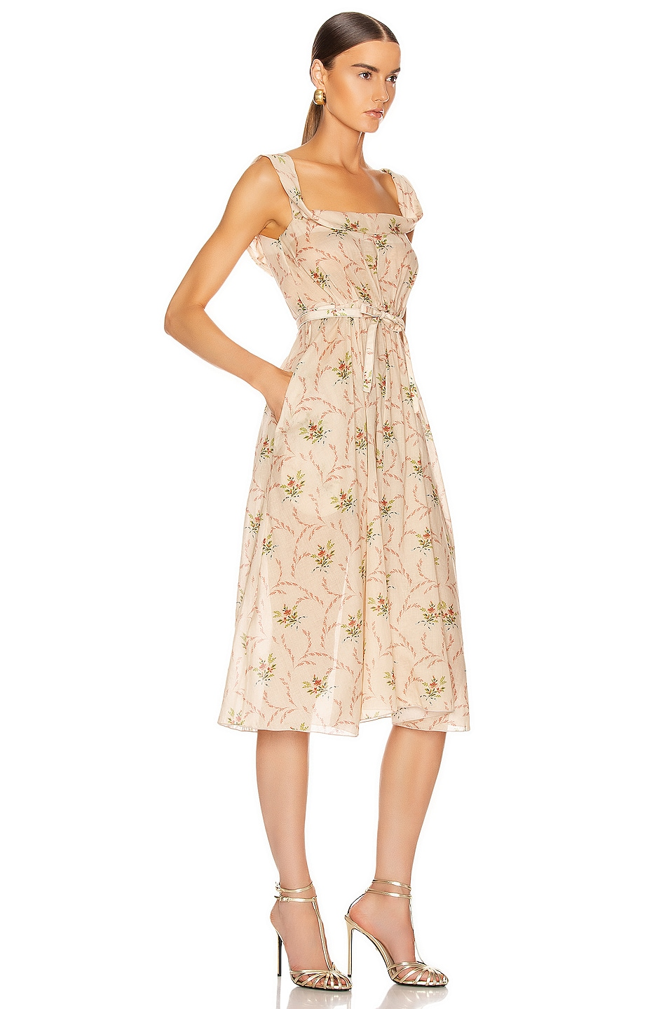 Image 2 of Brock Collection Patti Woven Dress in Dark Beige