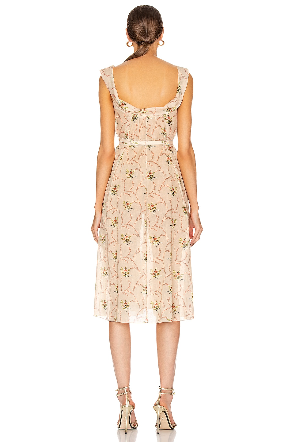 Image 3 of Brock Collection Patti Woven Dress in Dark Beige