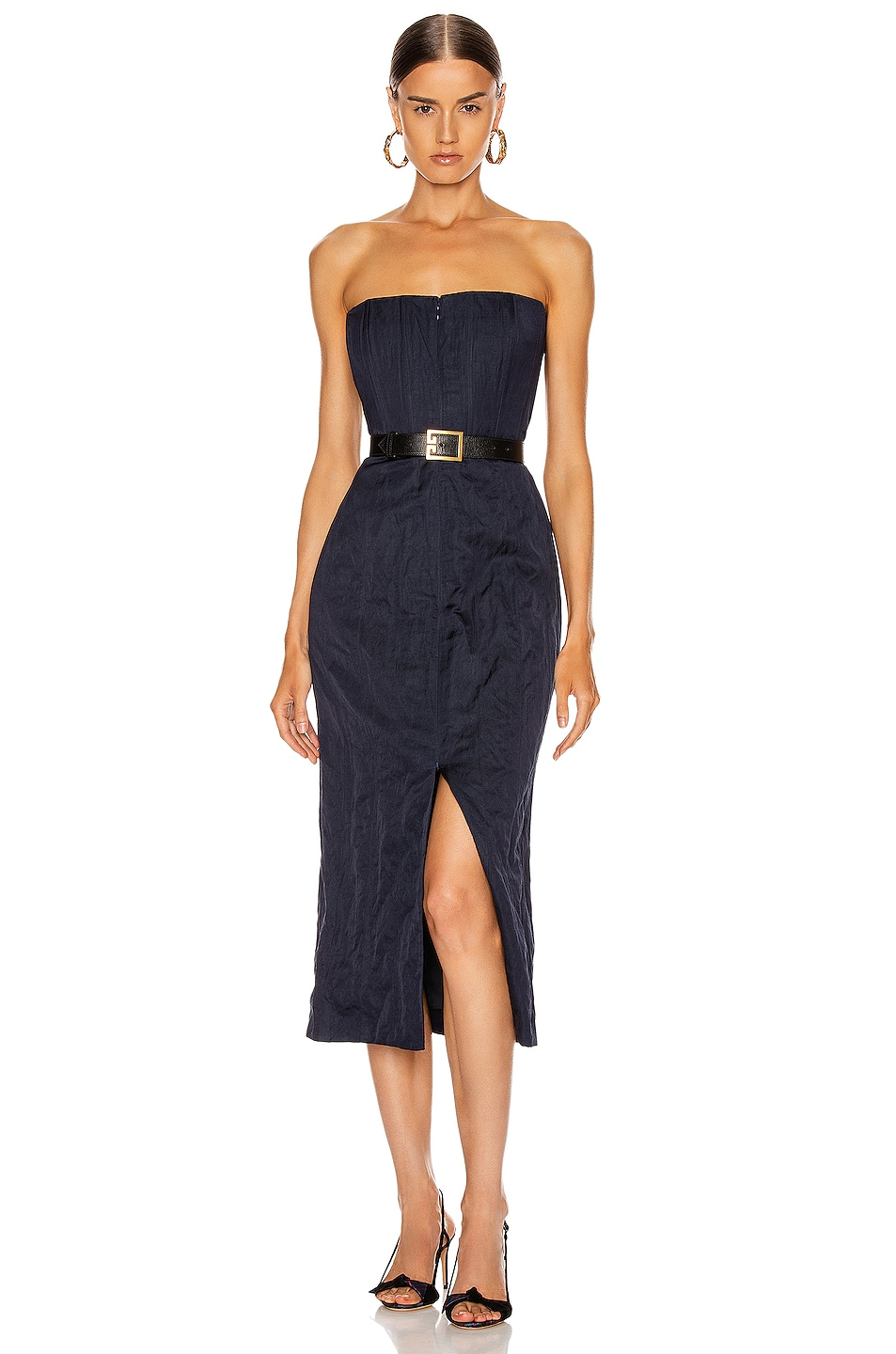 Image 1 of Brock Collection Strapless Priscilla Dress in Navy
