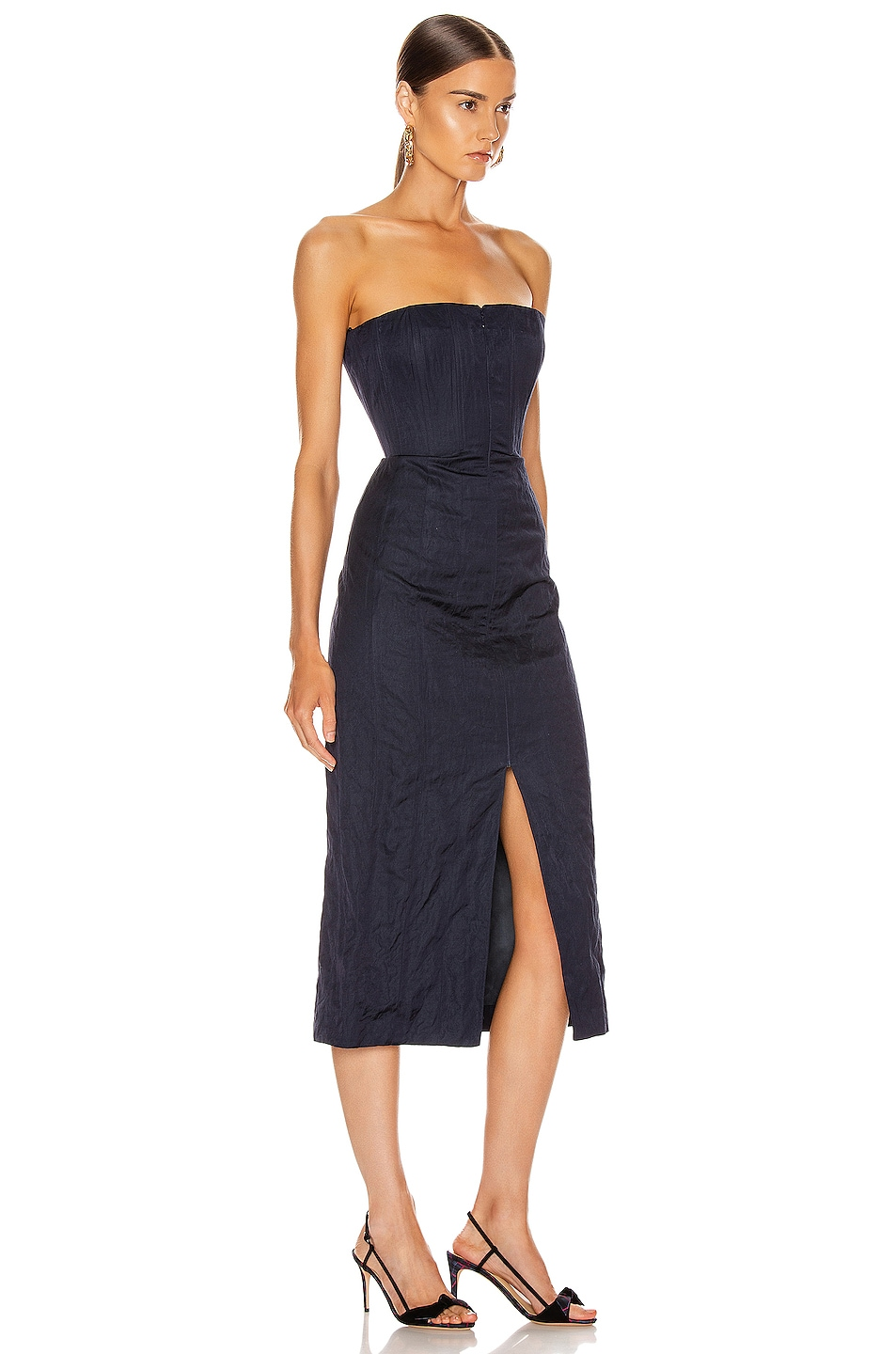 Image 2 of Brock Collection Strapless Priscilla Dress in Navy