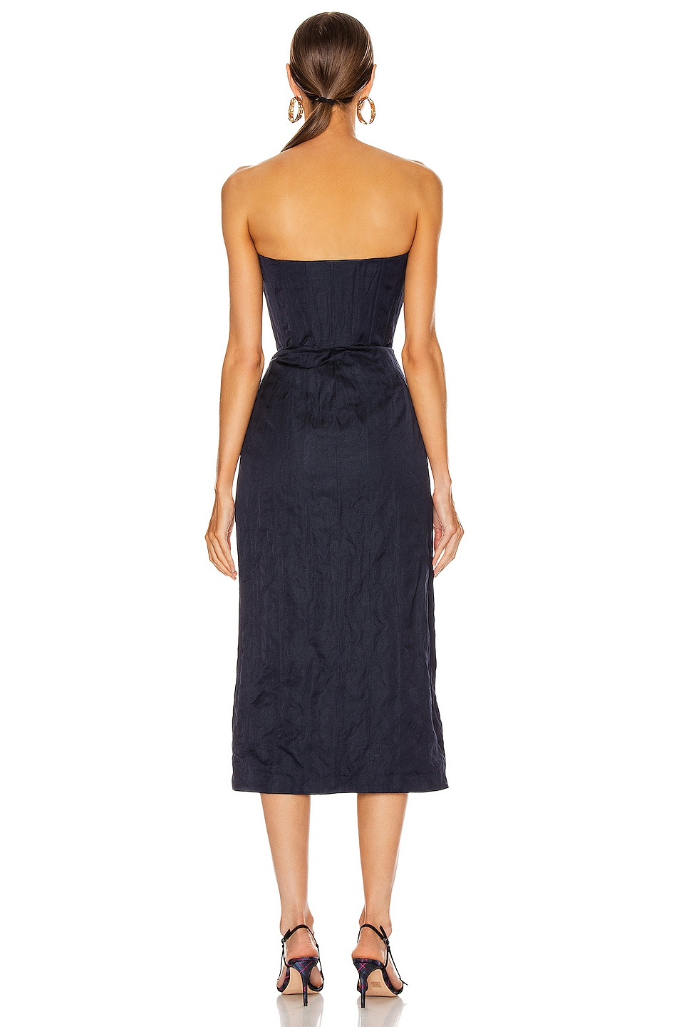 Image 3 of Brock Collection Strapless Priscilla Dress in Navy