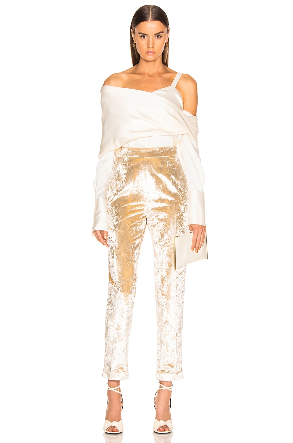 Image 4 of Brock Collection Peregrine Trousers in Cream