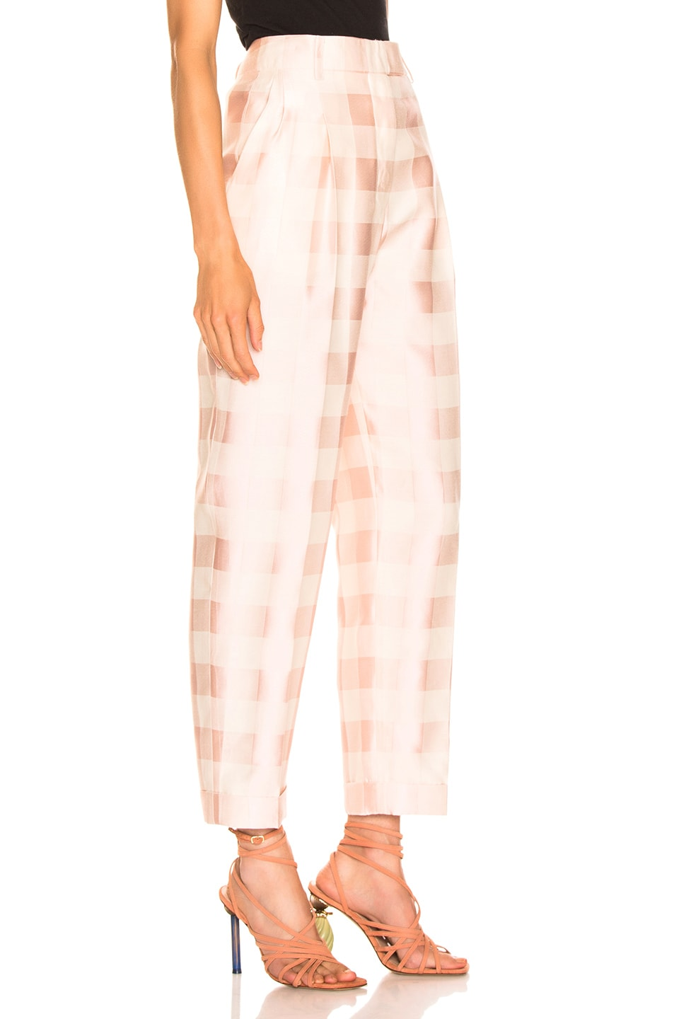 Image 2 of Brock Collection Check Trouser in Light Pastel Pink