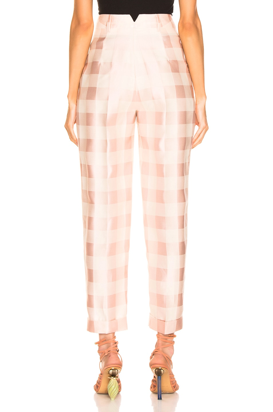 Image 3 of Brock Collection Check Trouser in Light Pastel Pink