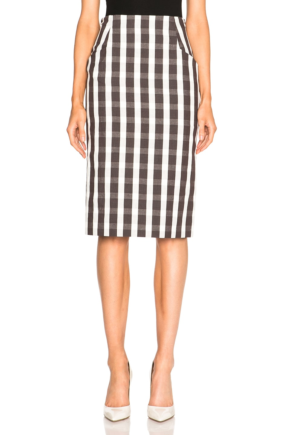 Image 1 of Brock Collection Sam Skirt in Brown & White