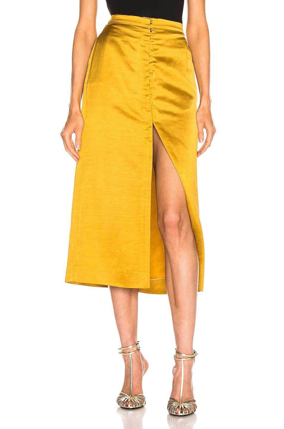 Image 1 of Brock Collection Objective Ladies Skirt in Medium Yellow