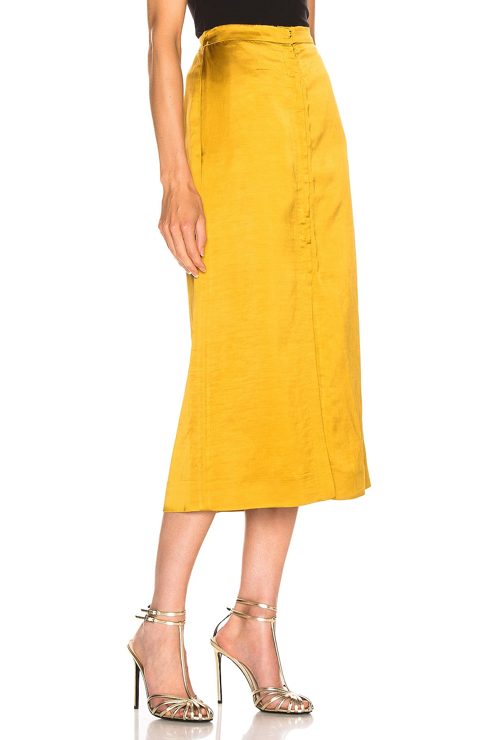Image 2 of Brock Collection Objective Ladies Skirt in Medium Yellow