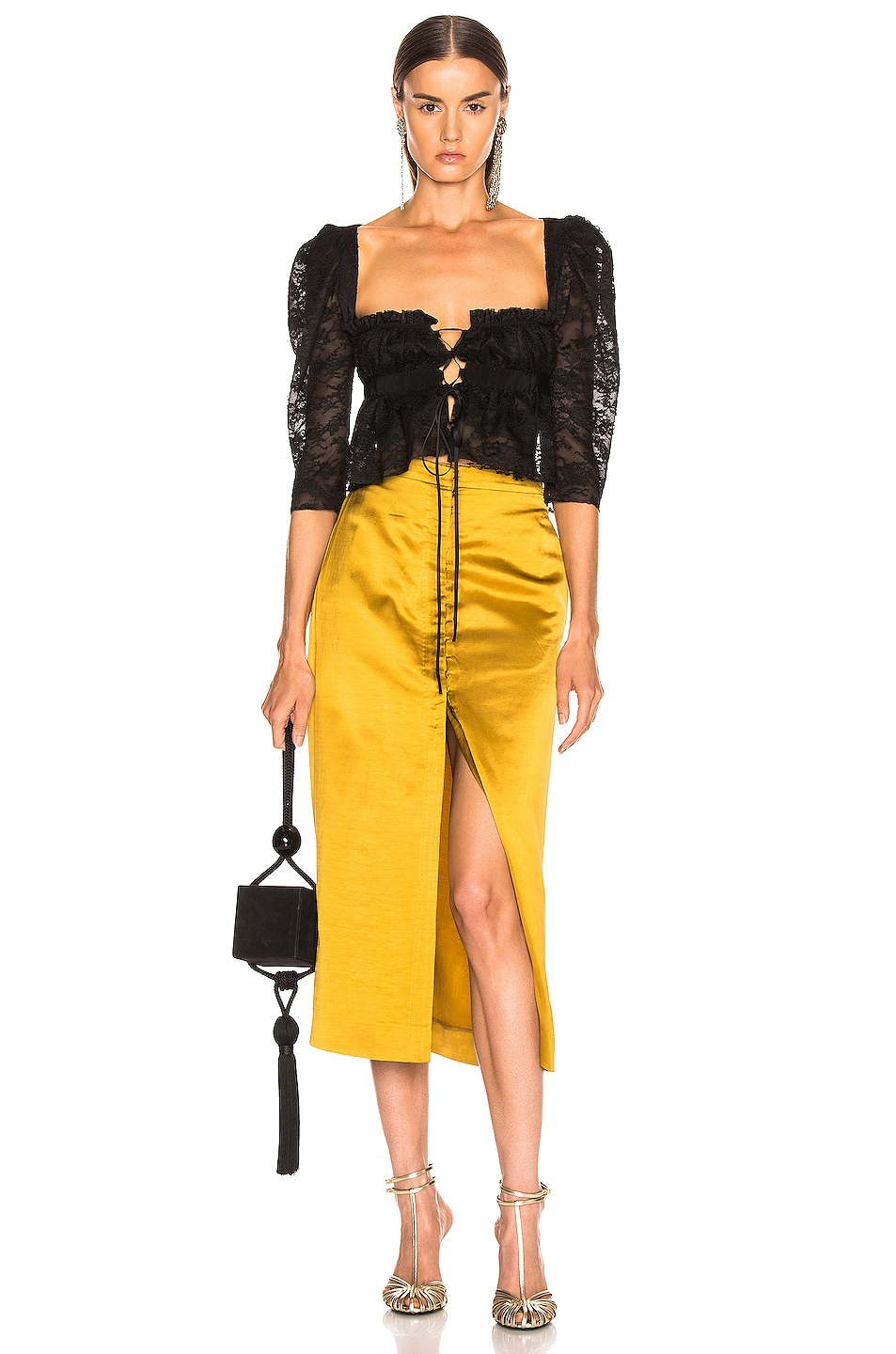 Image 4 of Brock Collection Objective Ladies Skirt in Medium Yellow