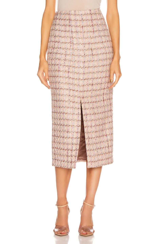 Image 1 of Brock Collection Pectolite Skirt in Medium Pink