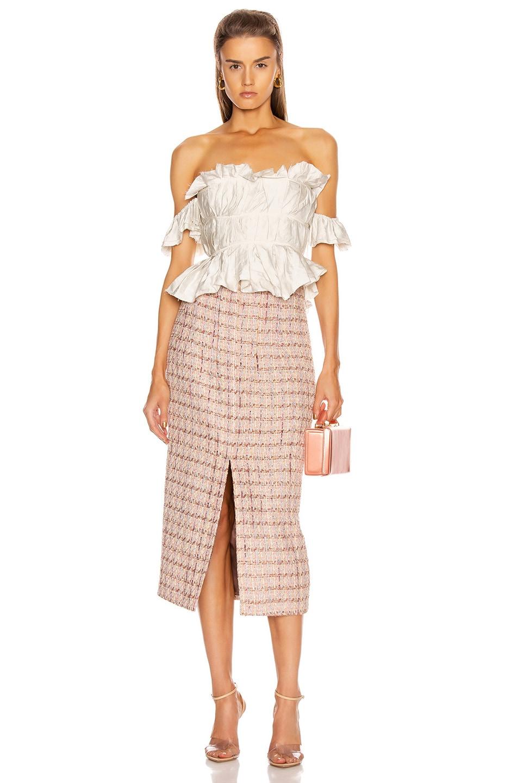 Image 4 of Brock Collection Pectolite Skirt in Medium Pink
