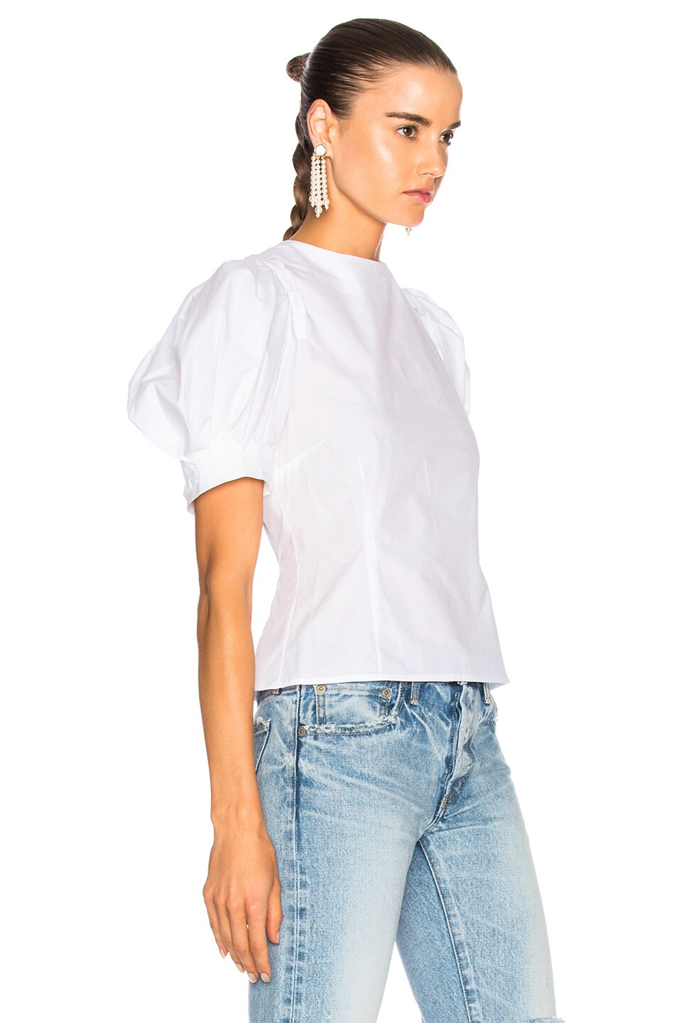 Image 3 of Brock Collection Takako Top in Optic White