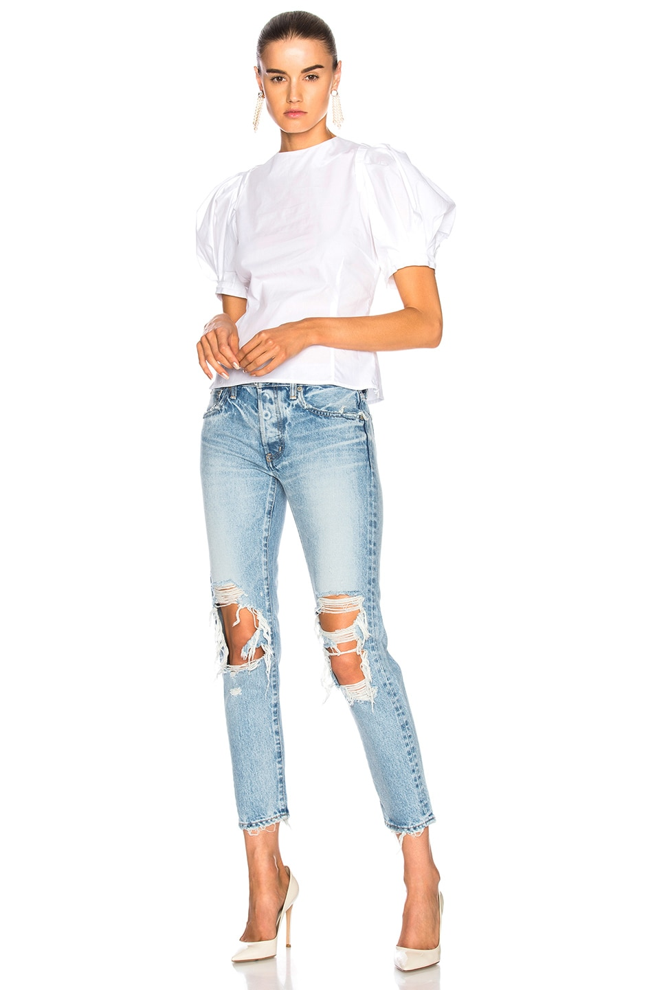 Image 5 of Brock Collection Takako Top in Optic White