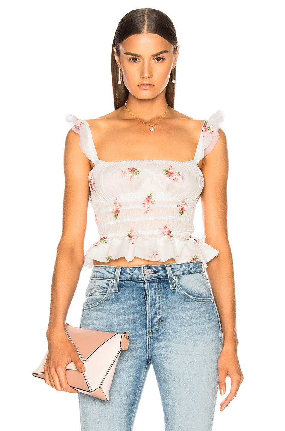 Brock Collection Thadine Top in Floral,White