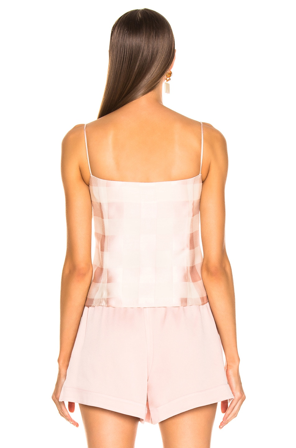 Image 3 of Brock Collection Check Bustier Top in Light Pastel Pink