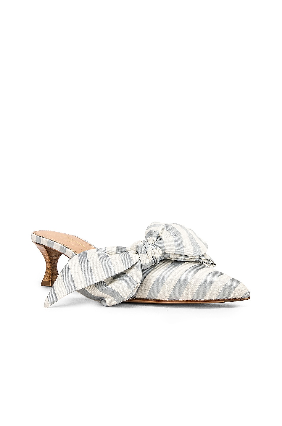 Image 2 of Brock Collection Tess Stripes Bow Heels in Light Blue & White