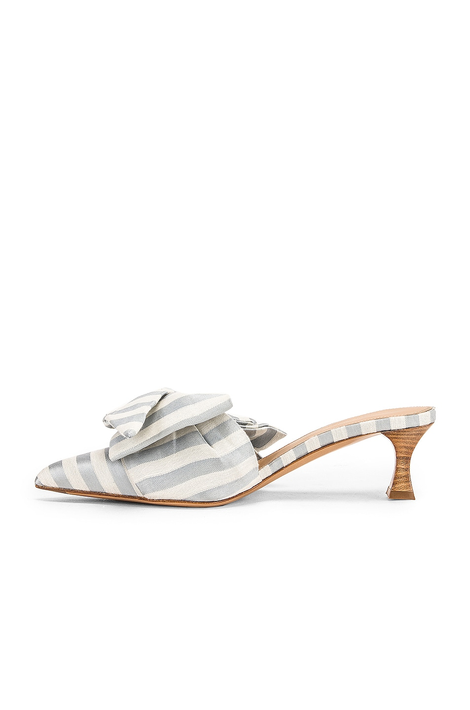 Image 5 of Brock Collection Tess Stripes Bow Heels in Light Blue & White