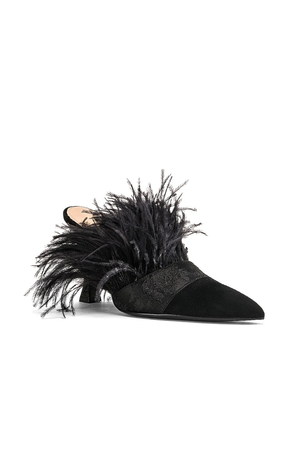 Image 2 of Brock Collection Feather Mules in Black