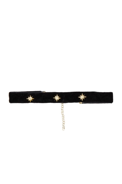 Image 1 of Bartoli Starburst Crushed Velvet Choker in Black