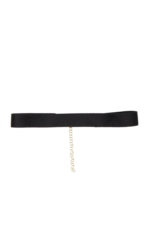 Image 1 of Bartoli Thin Satin Choker in Black