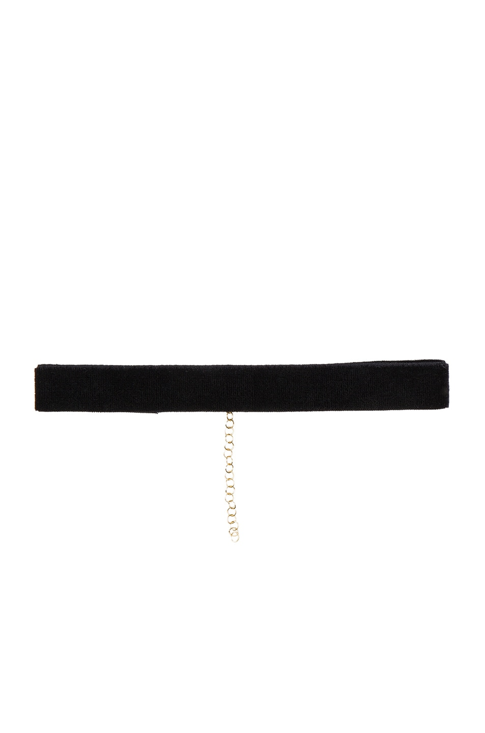 Image 1 of Bartoli Thin Velvet Choker in Black