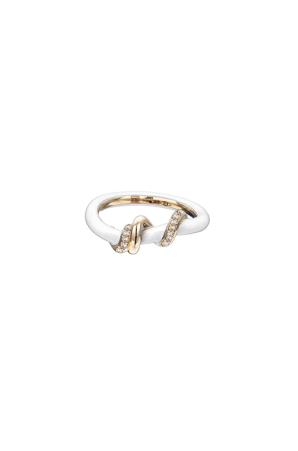 Image 1 of BEA BONGIASCA Pave Baby Vine Wrapped Stacking Ring in White
