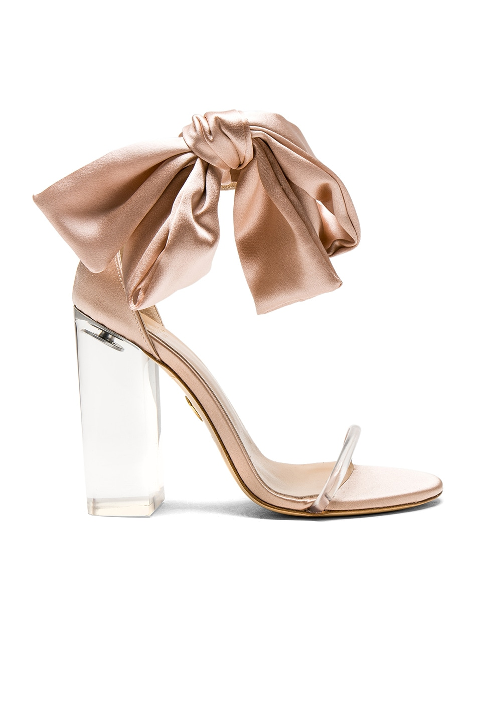 Image 1 of Brother Vellies Satin Caroline Heels in Sahara