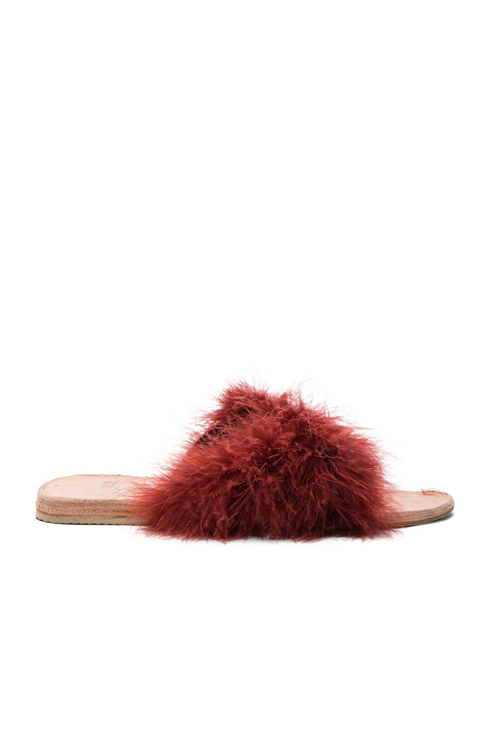 Image 1 of Brother Vellies Marabou Lamu Sandal in Currant