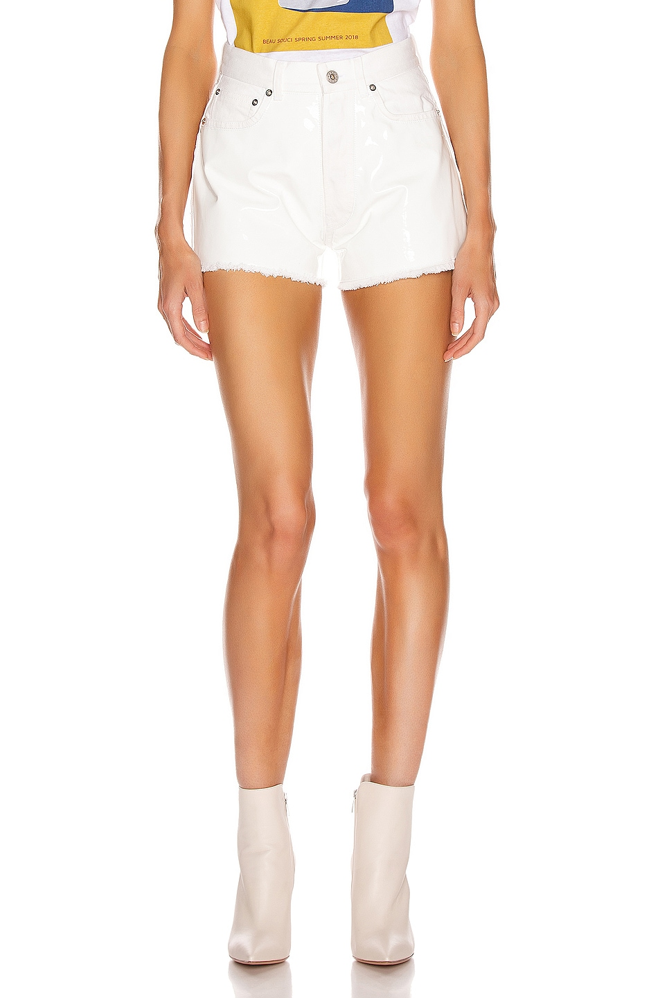 Image 1 of BEAU SOUCI Bramble Patent Short in White