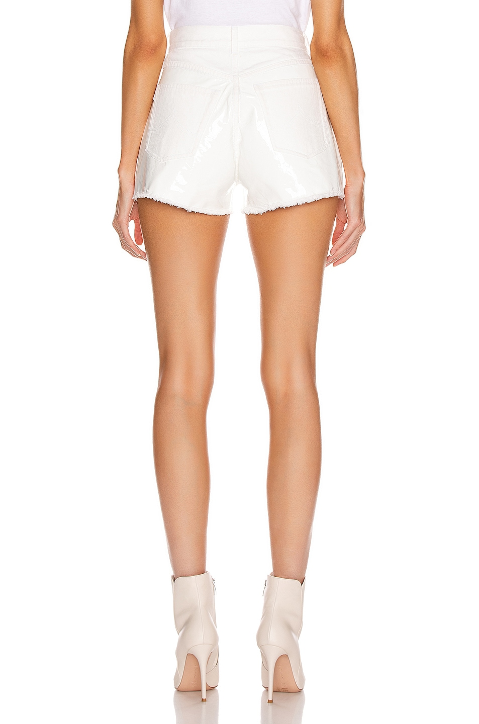 Image 3 of BEAU SOUCI Bramble Patent Short in White
