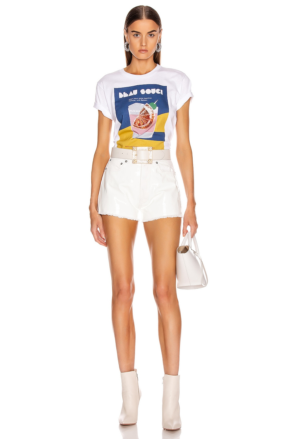 Image 4 of BEAU SOUCI Bramble Patent Short in White