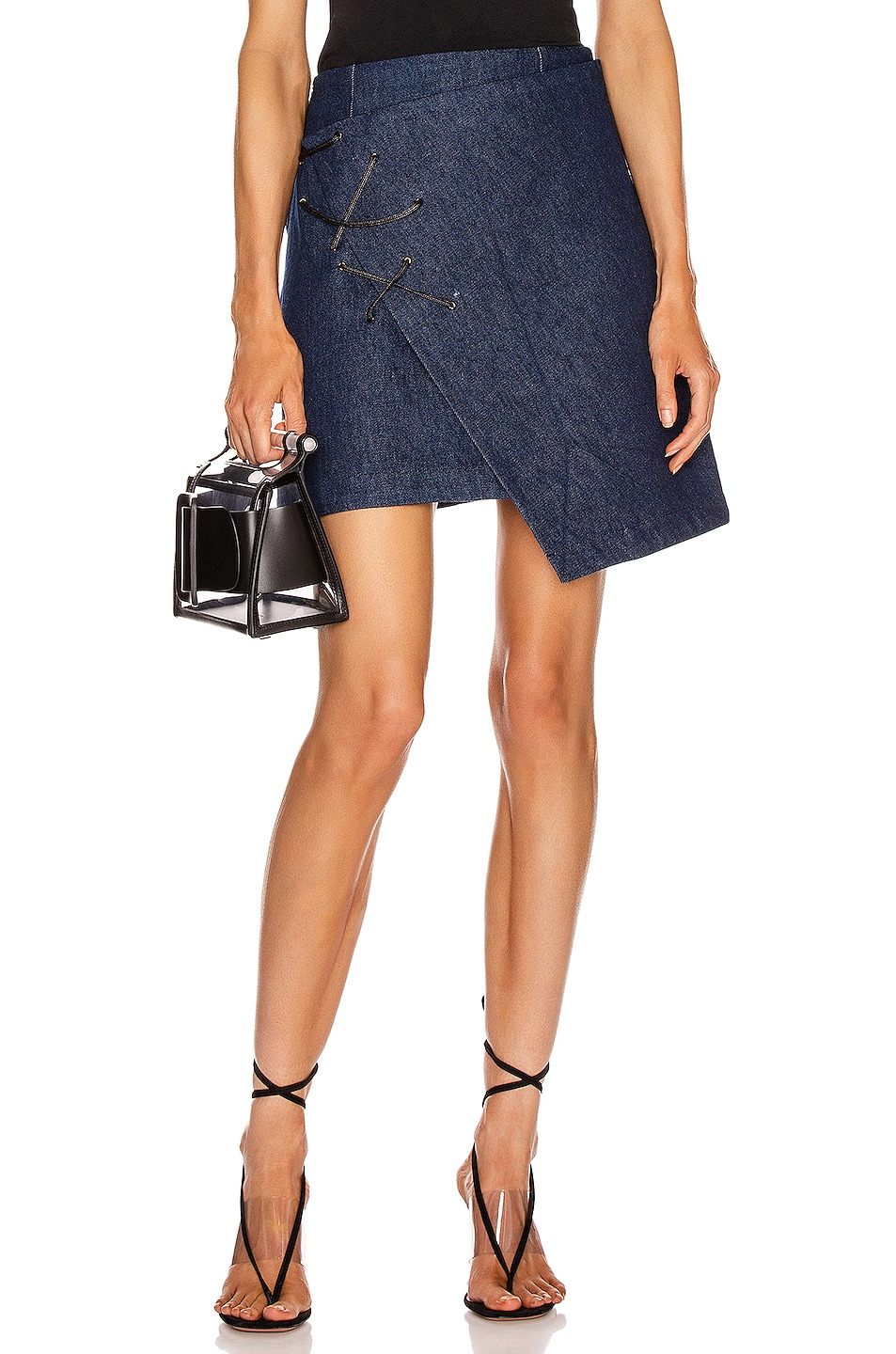 Image 1 of BEAU SOUCI Lazzaro Skirt in Blue