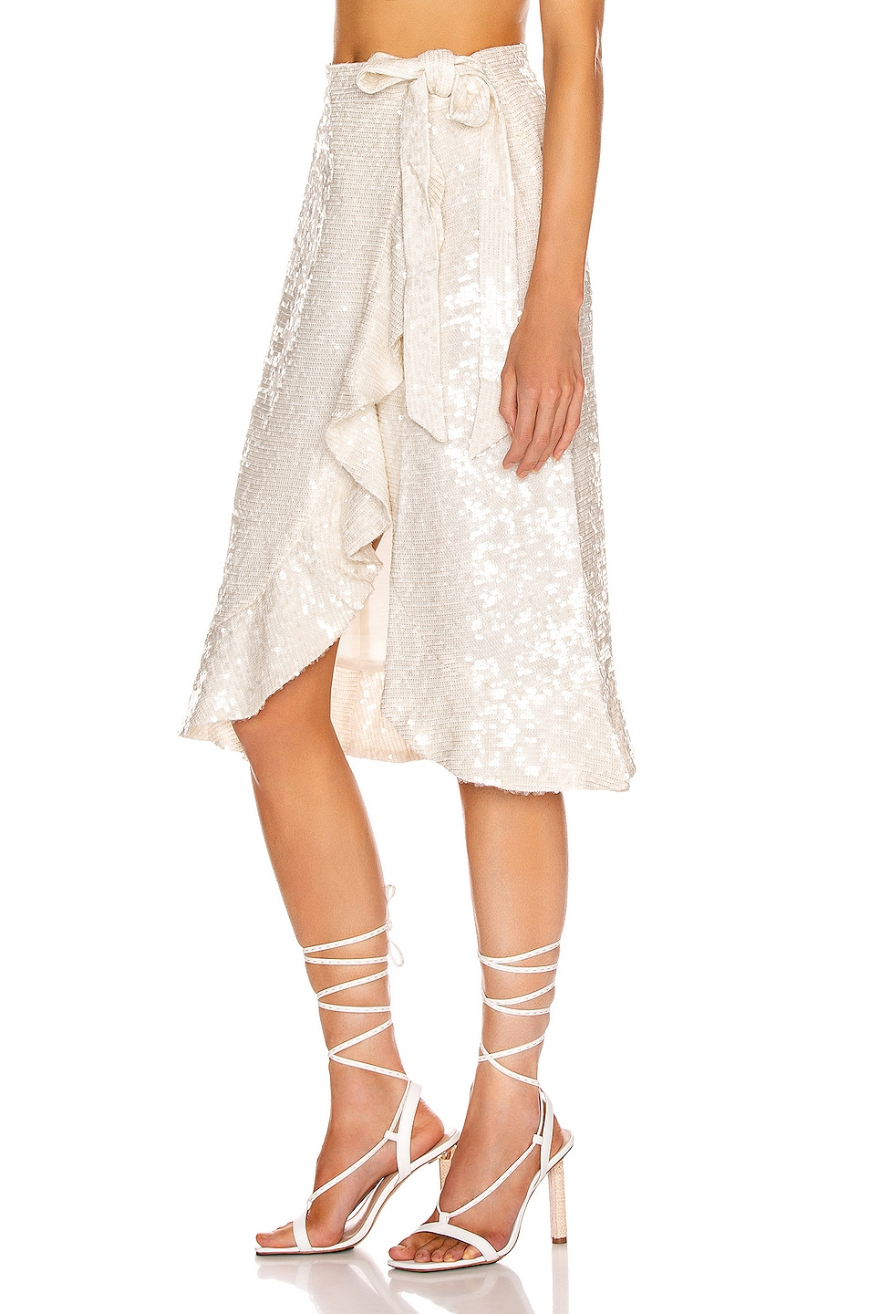 Image 3 of BEAU SOUCI Sienne Skirt in White