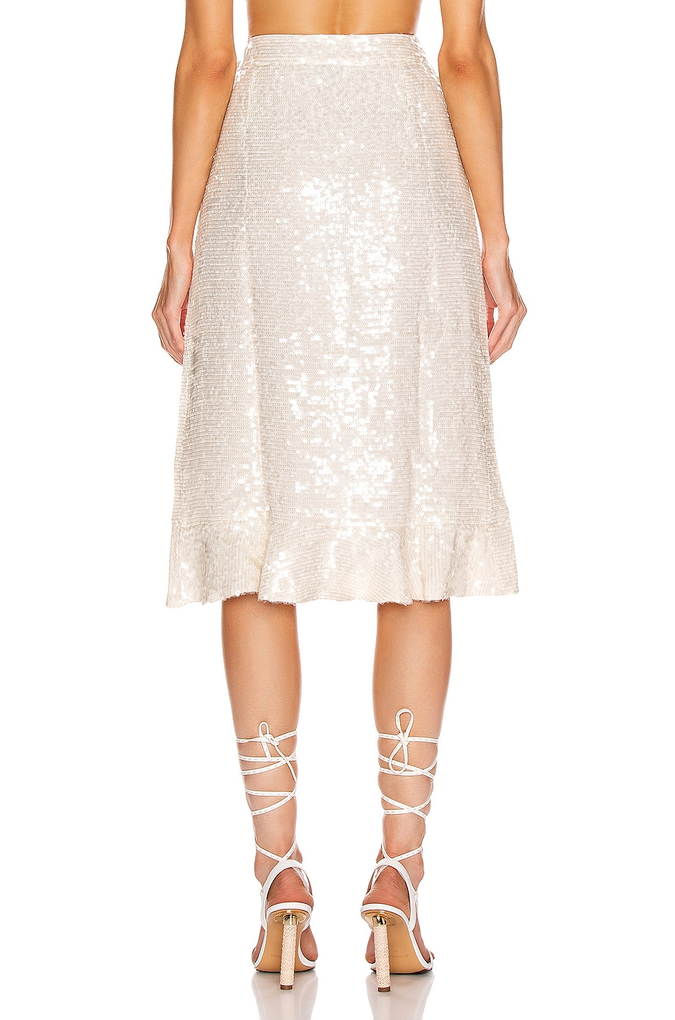 Image 4 of BEAU SOUCI Sienne Skirt in White