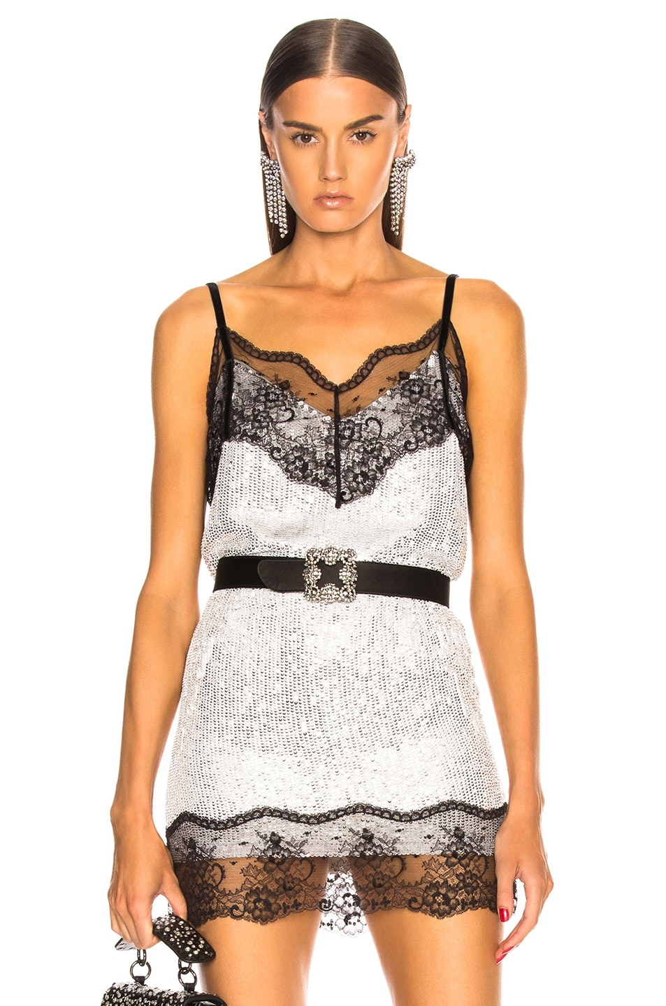 Image 1 of BEAU SOUCI Saturne Sequin Cami Top in Silver