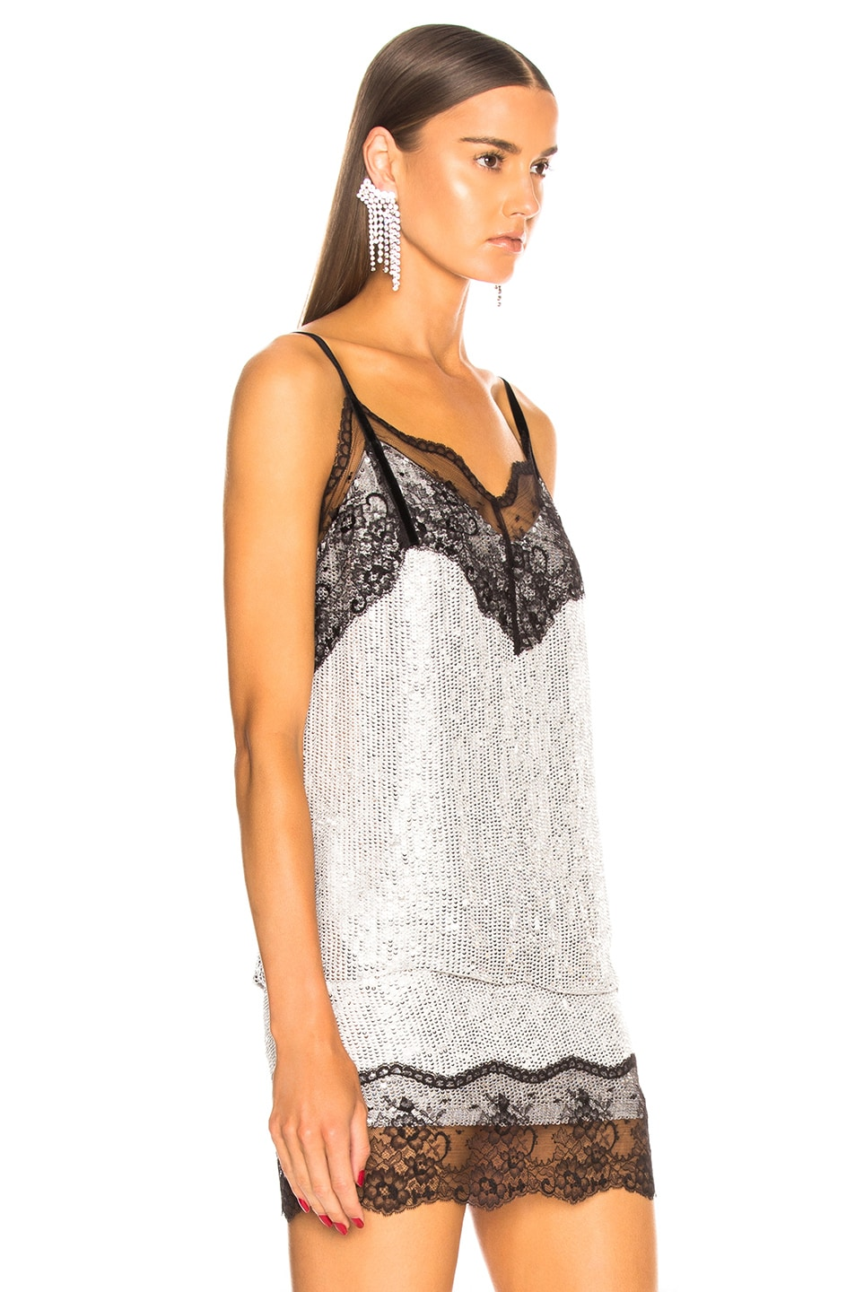 Image 3 of BEAU SOUCI Saturne Sequin Cami Top in Silver