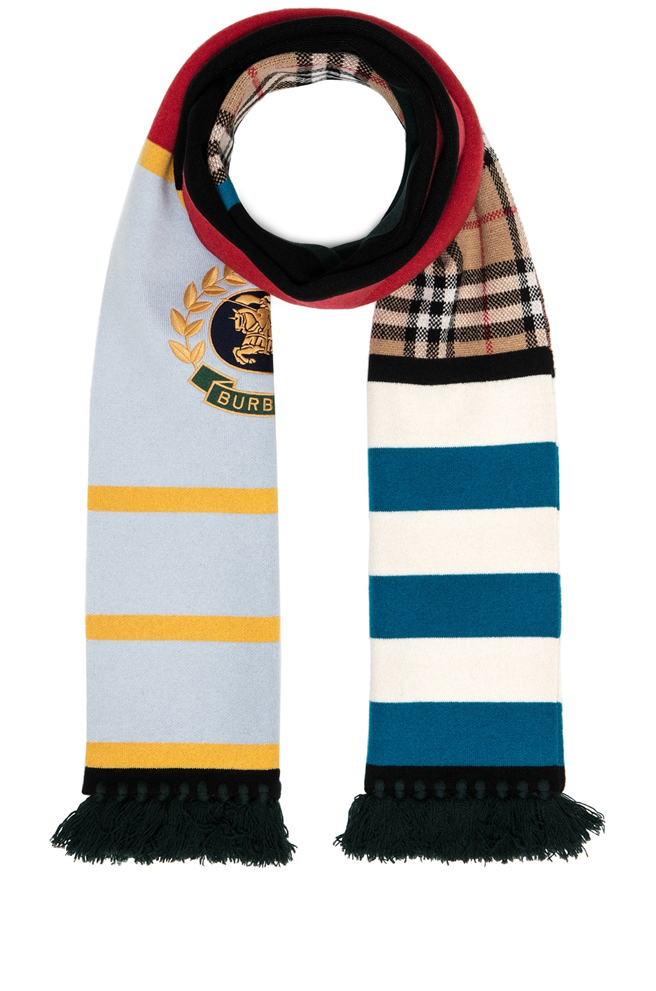 Image 1 of Burberry Knit Scarf in Multi