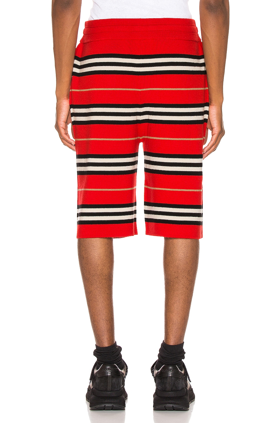 Image 3 of Burberry Icon Stripe Bermuda Shorts in Bright Red